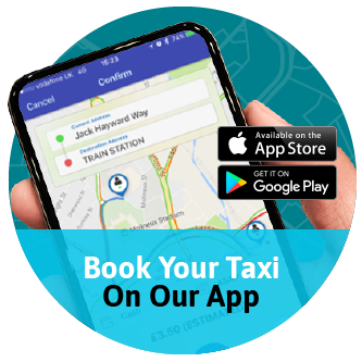 Book your taxi on our app!