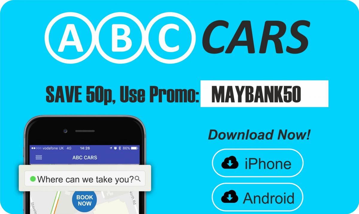 Save 50p off your next taxi on us! MAYBANK50